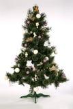 Weihnachtsbaum - Hälfte erfolgt Stockbilder