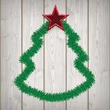 Weihnachtsbaum-hölzerne Latten-Zweige lizenzfreie abbildung