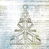 Weihnachtsbaum-Handabgehobener betrag Lizenzfreie Abbildung