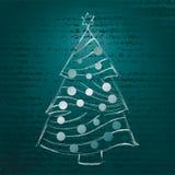 Weihnachtsbaum-Handabgehobener betrag Vektor Abbildung
