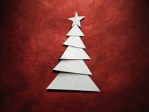 Weihnachtsbaum herausgeschnitten vom Papier Stockfoto