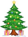 Weihnachtsbaum-Hexegeschenke Lizenzfreie Stockfotos