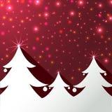 Weihnachtsbaum-Hintergrund-Grußkarte Stockfotos