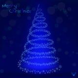 Weihnachtsbaum-Hintergrund - Illustration Stockfotografie