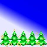 Weihnachtsbaum im Schnee Lizenzfreie Stockbilder