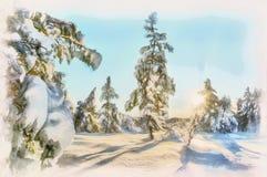 Weihnachtsbaum im Wald lizenzfreies stockbild