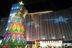 Weihnachtsbaum im Weihnachten und in der neues Jahr-Feier Stockbild