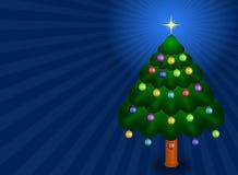 Weihnachtsbaum - Karte Stockfoto