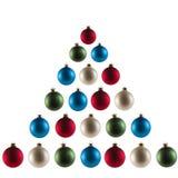 Weihnachtsbaum Kugeln stockbild