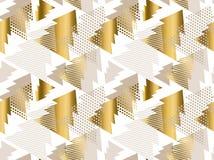 Weihnachtsbaum-Luxuspastellfarbnahtloses Muster Stockbild