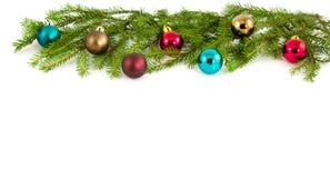 Weihnachtsbaum mit Bällen Stockfoto