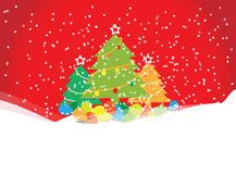 Weihnachtsbaum mit Ballonen Lizenzfreies Stockfoto