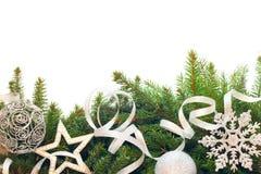 Weihnachtsbaum mit Dekor Stockfoto