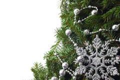 Weihnachtsbaum mit Dekor Lizenzfreies Stockfoto