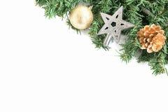 Weihnachtsbaum mit Dekoration Stockfoto