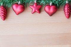Weihnachtsbaum mit Dekoration Lizenzfreie Stockfotos