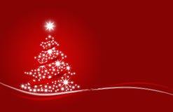 Weihnachtsbaum mit den Sternen rot Stockfotos