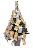 Weihnachtsbaum mit Euroanmerkungen Stockfotografie