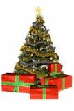Weihnachtsbaum mit Geschenken Stockbilder