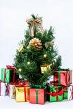 Weihnachtsbaum mit Geschenkkasten Lizenzfreies Stockbild