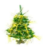 Weihnachtsbaum mit Girlande Stockbild