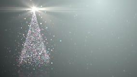 Weihnachtsbaum mit glänzendem Licht stock abbildung