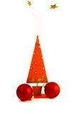 Weihnachtsbaum mit goldenem Stern Lizenzfreies Stockbild
