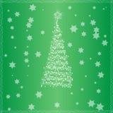 Weihnachtsbaum mit grünem Hintergrund Lizenzfreie Stockfotografie