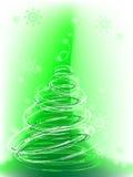 Weihnachtsbaum mit Schneeflocken, Vektor Lizenzfreies Stockbild