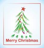 Weihnachtsbaum mit Stern stock abbildung