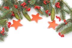 Weihnachtsbaum mit Sternen Stockfoto