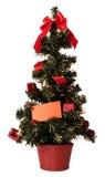 Weihnachtsbaum mit unbelegter Karte Stockbilder