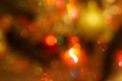 Weihnachtsbaum mit Unschärfeeffekt Traditionelle Feiertage Stockfotografie