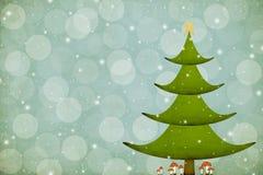 Weihnachtsbaum mit Wulstlings-Pilzen Stockfotos