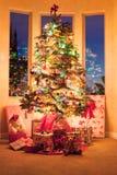 Weihnachtsbaum morgens Lizenzfreies Stockfoto