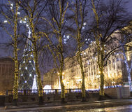 Weihnachtsbaum, Moskau Stockfotos