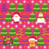 Weihnachtsbaum-Muster Stockbild