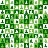 Weihnachtsbaum-Mustergrün Lizenzfreie Stockfotos