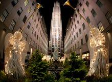 Weihnachtsbaum, New York Stockbild