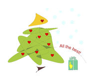 Weihnachtsbaum oder eine Kerze Lizenzfreies Stockfoto