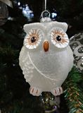"""Weihnachtsbaum ornament†""""Glaseulennahaufnahme Lizenzfreies Stockfoto"""