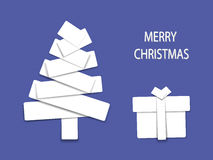 Weihnachtsbaum-Papierpatchwork Stockbilder