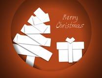 Weihnachtsbaum-Papierpatchwork Stockfotografie