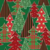 Weihnachtsbaum-Patchworkgewebe Stockbild
