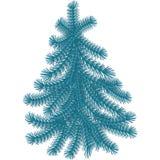 Weihnachtsbaum, pinecone, Elemente für Dekoration von festlichem Lizenzfreies Stockfoto