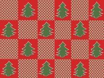 Weihnachtsbaum-Plaid Stockbilder