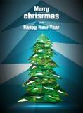 Weihnachtsbaum polygonal stockfoto