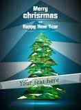 Weihnachtsbaum polygonal lizenzfreie stockfotos