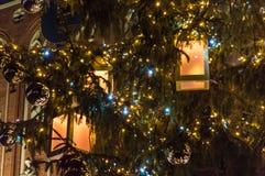 Weihnachtsbaum in Riga, Lettland stockfoto