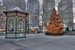 Weihnachtsbaum in Rittenhouse-Quadrat in Philadelphia Stockbild